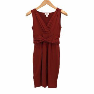 Ann Taylor Loft Womens Sheath Dress Red Petites SP